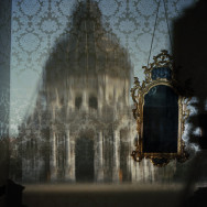 Blurry Upright Camera Obscura: Santa Maria della Salute with Scaffolding in Palazzo Bedroom, 2007