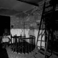 Camera Obscura Image of  Havana Looking Southeast in Room with Ladder, 2002