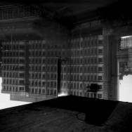 Camera Obscura Image of a Building Inside St. Pancras Chambers Room, London, 2001